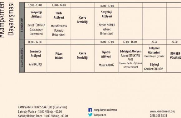 Kamp Armen 8-9 Mayıs Etkinlik Programı
